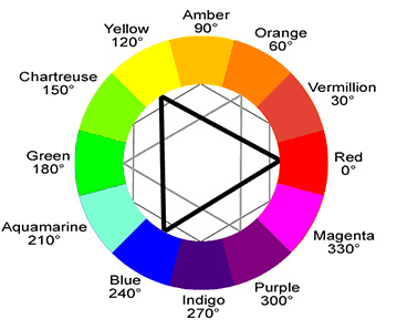 ryb color wheel labeled by Leopard Print