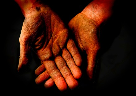 hands after working by wolfgangfoto